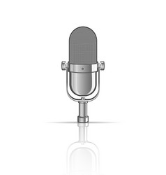 Vintage microphone isolated on white vector