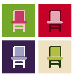 Wooden chair isolated vector