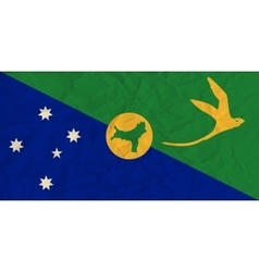 Christmas Island paper flag vector image