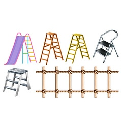 Different types of ladders vector image vector image