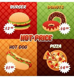 Fast Food Poster Set vector image vector image