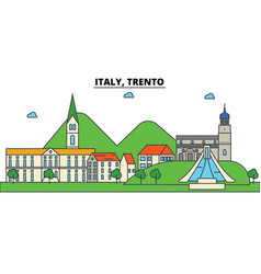 italy trento city skyline architecture vector image vector image