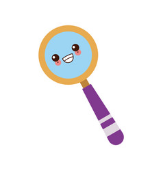 Kawaii school magnifier search discovery science vector