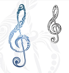 Musical Note Ornament vector image vector image