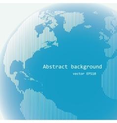 Raster lines world globe vector image