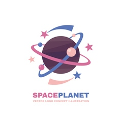 Space planet logo vector image vector image