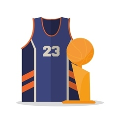 Tshirt and trophy of Basketball sport design vector image