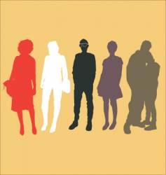 urban people vector image vector image