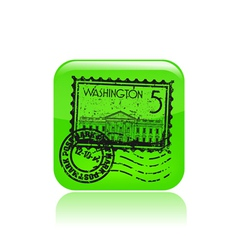 washington icon vector image