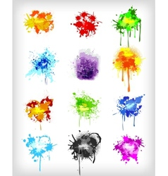 Grungy design colorful elements set vector image vector image