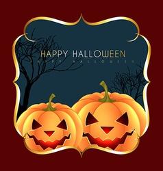halloween greeting design vector image vector image