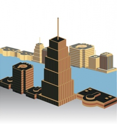 modern building vector image vector image