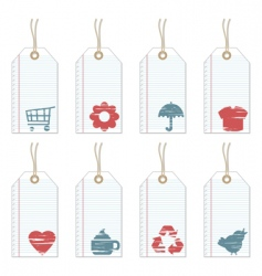 note paper tags vector image vector image