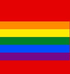 Rainbow pride flag lgbt movement vector