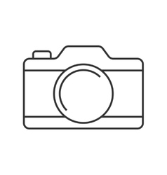 Camera thin line icon vector image vector image