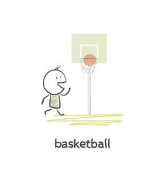 Cartoon man basketball vector image
