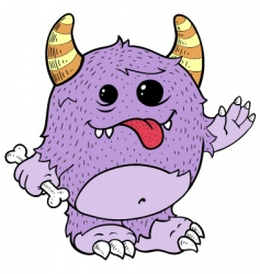 purple monster vector image vector image