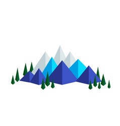 mountains and firs vector image