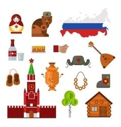 Russia set vector image