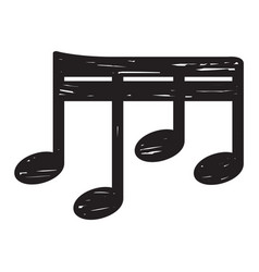 sketch of a musical note vector image vector image