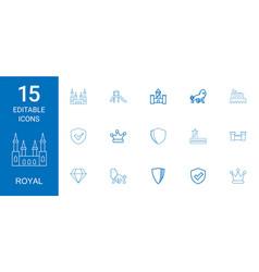 15 royal icons vector