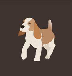 a dog vector image