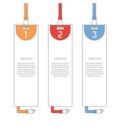 abstract 3 steps infographic template in flat vector image