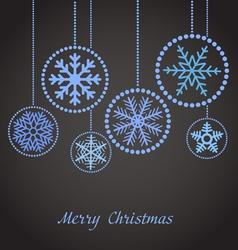 Abstract christmas balls vector