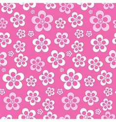 Abstract Retro Seamless Pink Flower Pattern vector image