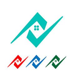 Architect home construction creative logo vector