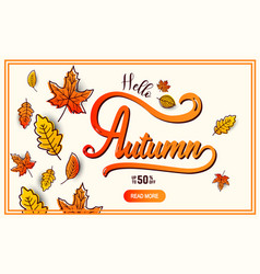 autumn calligraphy banner vector image