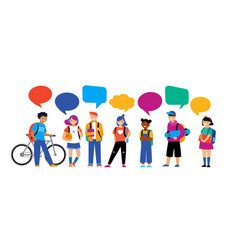 back to school background diversity concept vector image