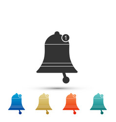 bell icon isolated on white background vector image
