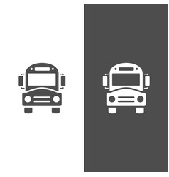 Bus school icon on dark and white background vector