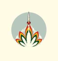Cannabis rocket launch vector