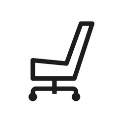 chair icon simple vector image