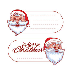 christmas and holidays hang tag labels or vector image