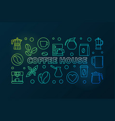 Coffee house colored cafe vector