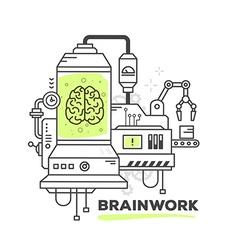 creative professional mechanism of brainw vector image