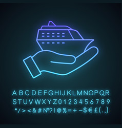cruise service neon light icon vector image