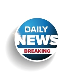 Daily news breaking vector