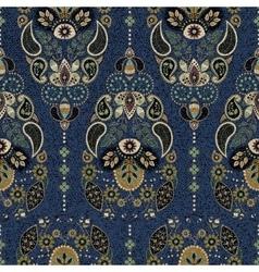 Dark paisley seamless pattern original decorative vector