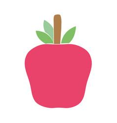 Delicious apple fruit to healthy life vector
