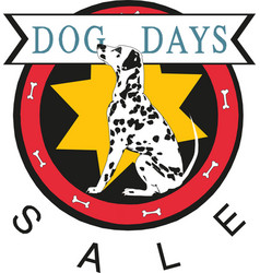 dog days sale banner vector image