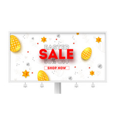 easter sale ad billboard with special holiday vector image