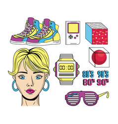 Eighties and nineties style vector
