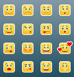 Emoticon smile stickers vector image