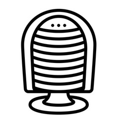 fan heater icon outline style vector image