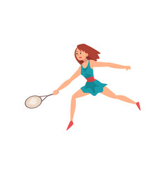 female tennis player wearing sports uniform vector image