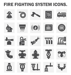 Fire system icon vector